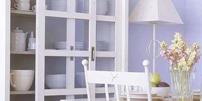 Room, Furniture, Interior design, Shelf, Shelving, Lampshade, Interior design, Lavender, Grey, Lamp,