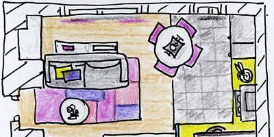 Line, Purple, Parallel, Magenta, Rectangle, Illustration, Drawing, Artwork, Plan, Diagram,