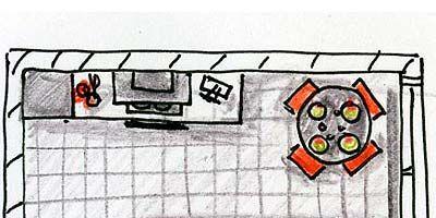 Line, Orange, Rectangle, Parallel, Artwork, Illustration, Drawing, Painting, Child art, Graphics,