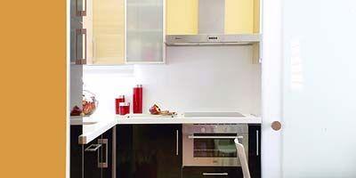 Room, Major appliance, Kitchen, Fixture, Luggage and bags, Kitchen appliance, Home appliance, Sink, Cabinetry, Countertop,