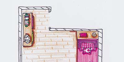 Wood, Line, Magenta, Art, Artwork, Rectangle, Parallel, Cartoon, Painting, Illustration,