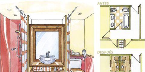 Room, Plumbing fixture, Line, Parallel, Plumbing, Rectangle, Illustration, Bathroom, Toilet, Drawing,
