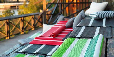 alfombras de exterior a rayas