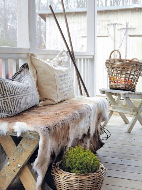 Wood, Window, Furniture, Interior design, Outdoor furniture, Wicker, Home accessories, Hardwood, Twig, Basket,