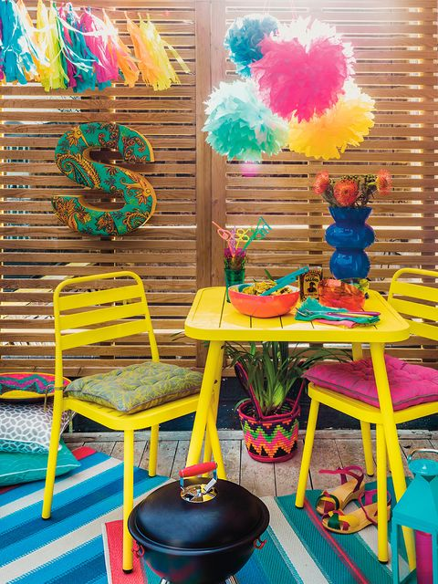 Furniture, Party supply, Magenta, Turquoise, Decoration, Natural material, Feather, Stool,