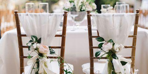 Floral design, Floristry, Flower Arranging, Flower, Tablecloth, Dress, Wedding ceremony supply, Textile, Bouquet, Chair,