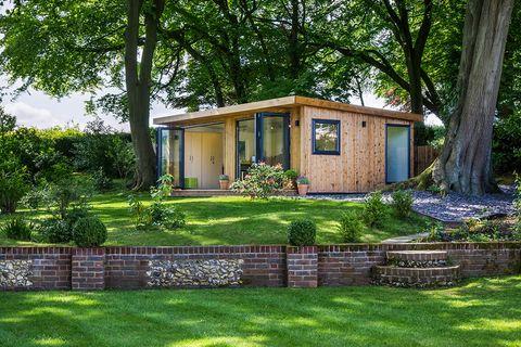 casita de madera para el jardín