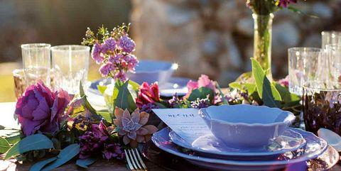 Purple, Centrepiece, Flower, Tableware, Lavender, Teacup, Table, Spring, Drinkware, Plant,