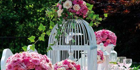 mesa de boda en el jardín