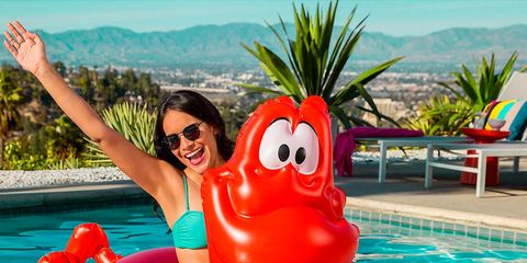 Inflatable, Games, Fun, Leisure, Swimming pool, Recreation, Summer, Vacation, Crustacean, Lobster,