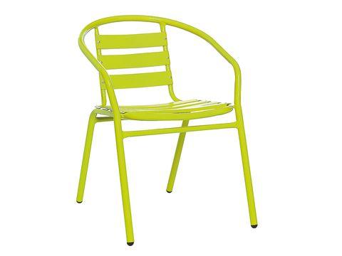 Yellow, Line, Chair, Armrest,