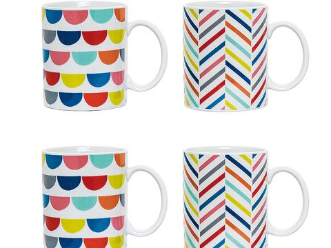 Cup, Serveware, Drinkware, Dishware, Porcelain, Line, Pattern, Tableware, Colorfulness, Teacup,