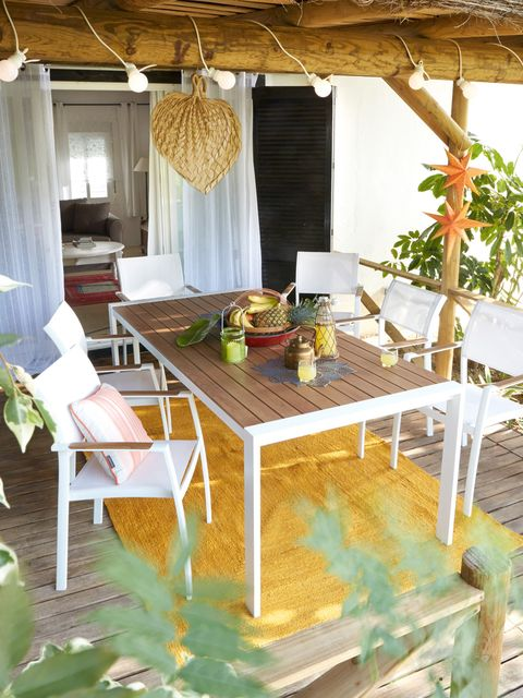 Table, Room, Interior design, Furniture, Chair, Ceiling, Real estate, Outdoor furniture, Home, Outdoor table,
