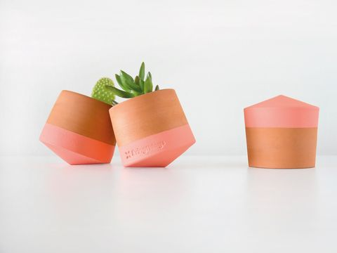 Pink, Flowerpot, Orange, Origami, Paper, Craft, Plant, Art, Paper product, Peach,