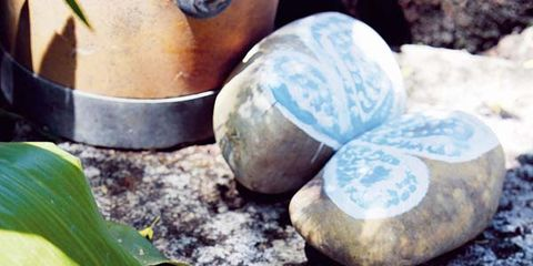 Rock, Leaf, Pebble, Natural material, Geology, Still life photography, Easter egg, Collection, Oval, Perennial plant,
