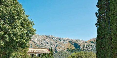 Swimming pool, Water, Landscape, Natural landscape, Aqua, Real estate, Resort, Azure, Mountain range, Resort town,