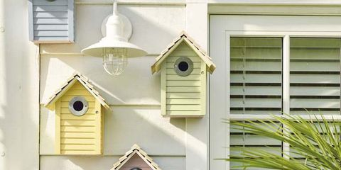 Fixture, Birdhouse, Birdhouse, Window covering, Wall clock, Spanish missions in california,