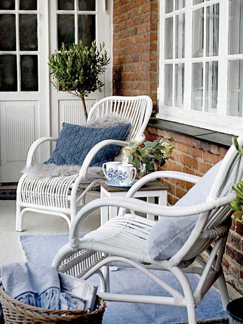 Window, Furniture, Home, Outdoor furniture, Chair, Basket, House, Flowerpot, Wicker, Armrest,