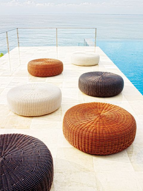 Orange, Ocean, Circle, Symmetry, Beach, Natural material, Sphere, Wicker, Synthetic rubber,