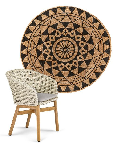 Furniture, Table, Outdoor furniture, Chair, Circle, Coffee table, Beige, Outdoor table, Pattern, Games,