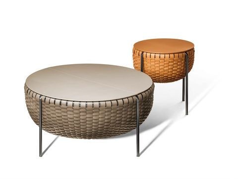 Coffee table, Furniture, Table, Outdoor table, Outdoor furniture, Wicker, End table, Ottoman,