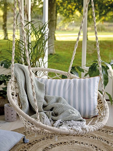 Textile, Home accessories, Wicker, Rope, Basket, Swing,