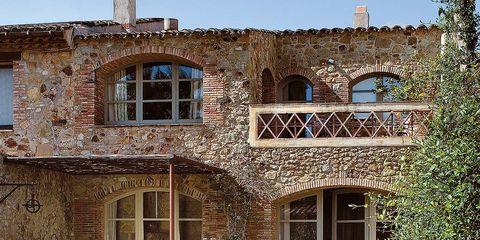 Window, Property, Swimming pool, Real estate, House, Fluid, Outdoor furniture, Brick, Door, Home,