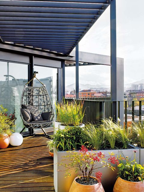ideas decorativas para terraza patio o balc n. Black Bedroom Furniture Sets. Home Design Ideas