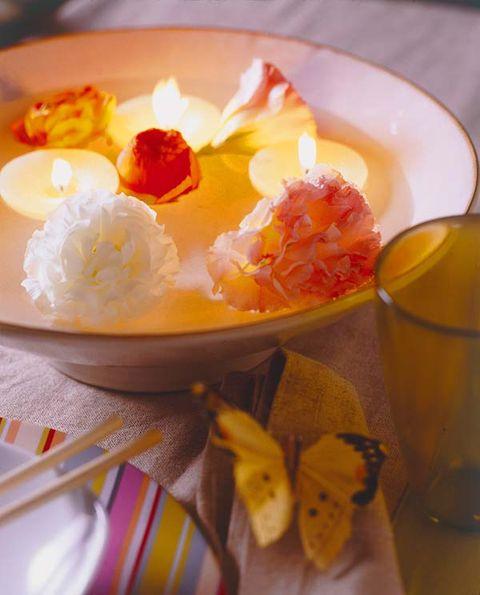 Food, Dishware, Cuisine, Insect, Serveware, Ingredient, Tableware, Orange, Dish, Garnish,