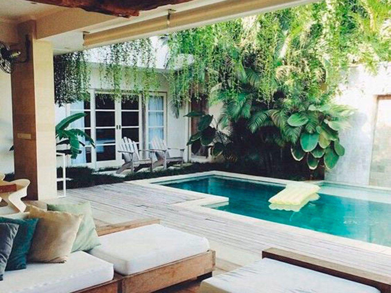 Diseo de patios pequeos con piscina jardin t casas Fotos de patios de casas pequenas
