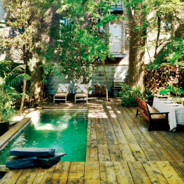 33 jardines con piscinas de ensue o for Jardines pequenos con piscina
