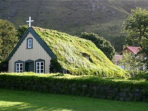 Grass, Green, Property, Highland, Slope, Hill, Landscape, Land lot, Rural area, House,