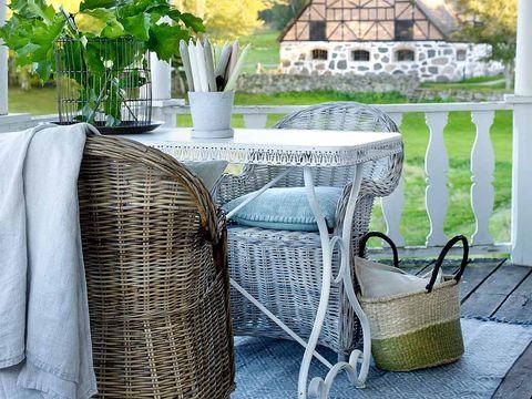 Limpieza y cuidado de los muebles de exterior