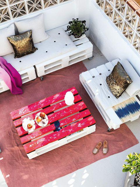 muebles de terraza hechos con palets