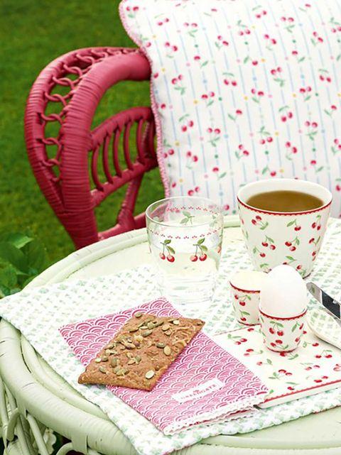 Cup, Pink, Drinkware, Teacup, Table, Coffee cup, Textile, Furniture, Tableware, Cup,