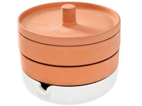 Brown, Orange, Peach, Tan, Cookware and bakeware, Maroon, Beige, Lid, Cylinder, Crock,