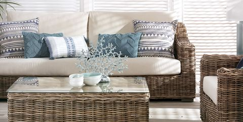 Furniture, Wicker, Room, Living room, Coffee table, Table, Interior design, studio couch, Chair, Couch,