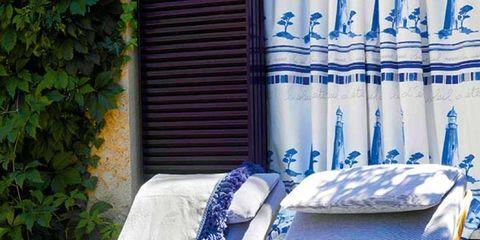 Textile, Folding chair, Outdoor furniture, Linens, Armrest, Window treatment,