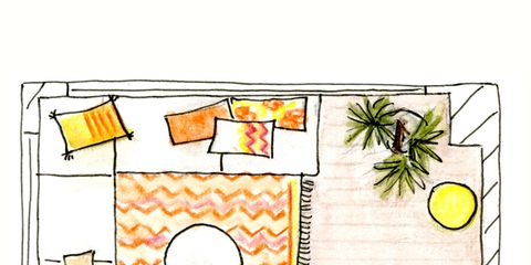 Yellow, Line, Parallel, Rectangle, Artwork, Illustration, Peach, Painting, Drawing, Plan,