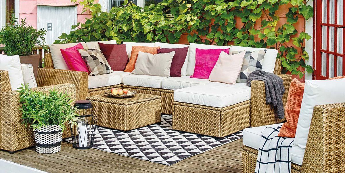 Porches jardines terrazas y balcones listos para for Amazon muebles terraza