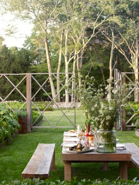 Plant, Table, Garden, Furniture, Outdoor furniture, Outdoor table, Woody plant, Shrub, Backyard, Twig,