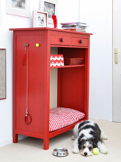 Furniture, Red, Room, Cupboard, Shelf, Table, Chest of drawers, Door, Drawer, Desk,