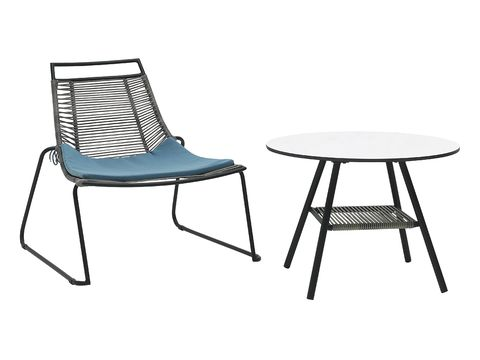 White, Furniture, Line, Black, Pattern, Grey, Parallel, Rectangle, Material property, Outdoor furniture,