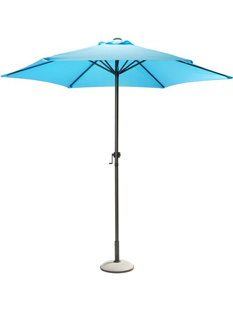 Umbrella, Product, Line, Black, Electric blue, Tints and shades, Symmetry, Silver, Plastic,