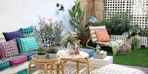 Una Terraza Decorada Con Encanto Boho Chic