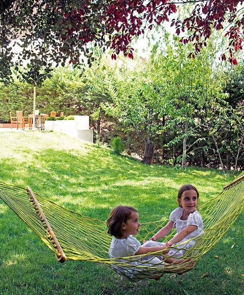 Grass, People in nature, Summer, Child, Garden, Sunlight, Baby & toddler clothing, Lawn, Toddler, Backyard,