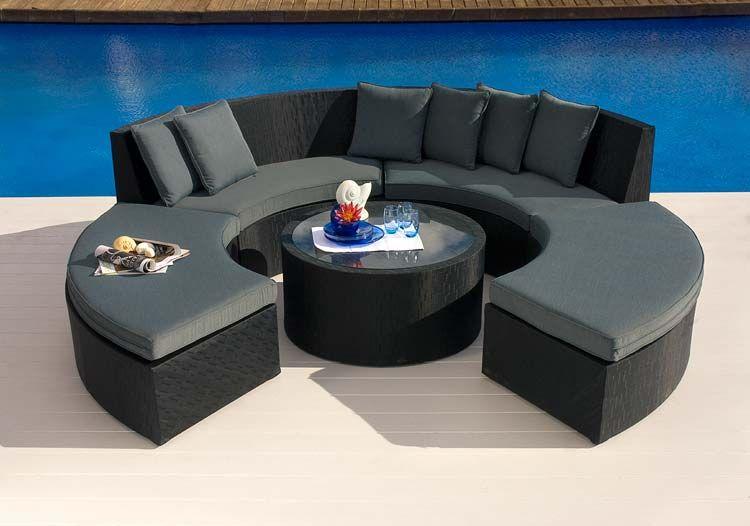 Muebles de estilo moderno para el jardín
