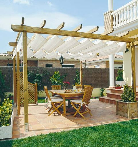 P rgolas y toldos para la terraza o el porche - Medidas de pergolas ...