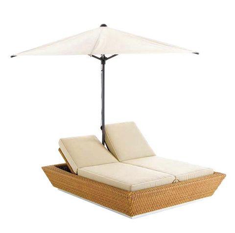 Brown, Product, Furniture, Outdoor furniture, Beige, Wicker, Outdoor sofa, Tan, Rectangle, Futon pad,