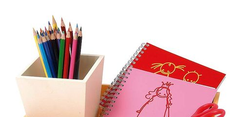 Writing implement, Paper product, Colorfulness, Stationery, Paper, Pencil, Box, Office supplies, Desk organizer, Book,
